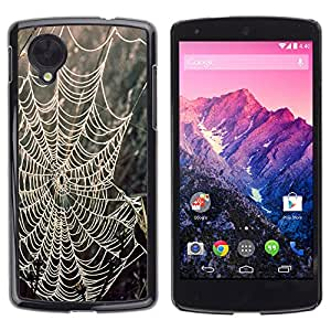 MOBMART Carcasa Funda Case Cover Armor Shell PARA LG Nexus 5 D820 D821 - Webs Between The Trees