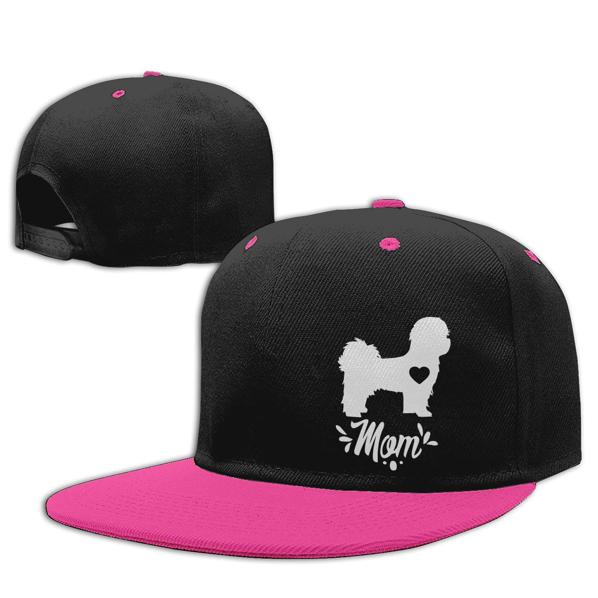 NMG-01 Men Womens Trucker Cap Shih Tzu Dog Mom Adults Flat Bill Baseball Caps