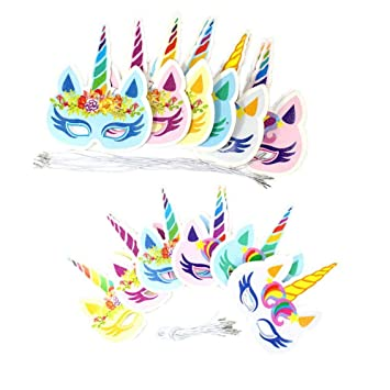 Máscaras Del Unicornio De Papel Chispeante De Máscaras Para ...