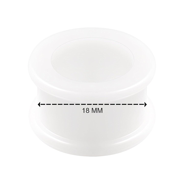 BanaVega 2 Piezas de Silicona Blanca Doble Acampanado Sillín Lindo ...