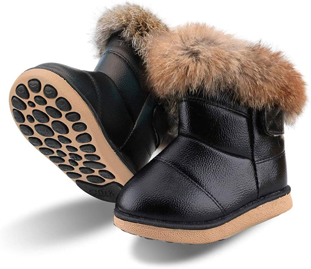 Baby Girls Soft Leather Booties Winter
