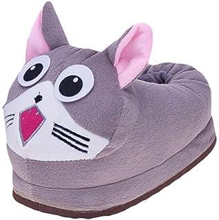 Erwachsene Warme Winter Hausschuhe Plüsch Tier Pantoffeln Lustige Kuschelige Tierhausschuhe Indoor Schuhe, Affe YOUJIA