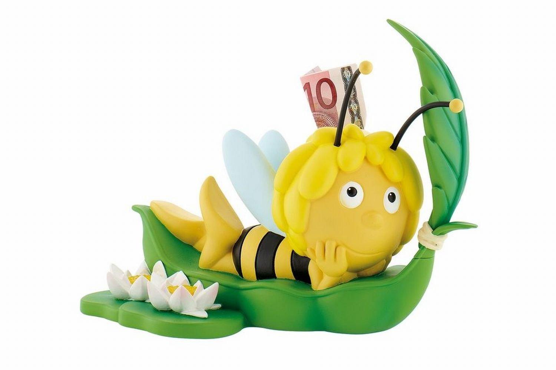 Bullyland 43402 - Spardose - Biene Maja auf Blatt, ca. 20 cm ...