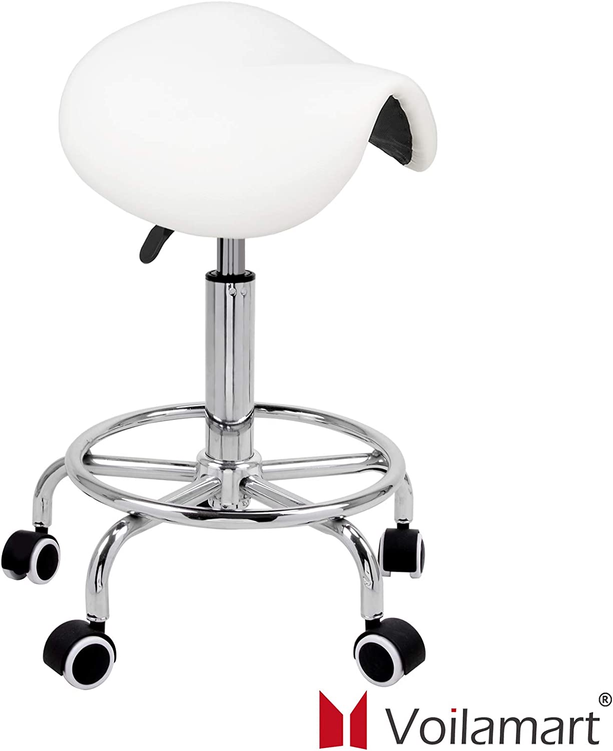 Adjustable Manicure Stool with High Grade Synthetic Leather and Thick Cushion for Domestic Salon and Spa Commercial Tattoo Therapy Chair