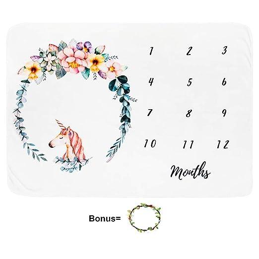 Amazon.com: Baby Monthly Milestone Blanket Large 60
