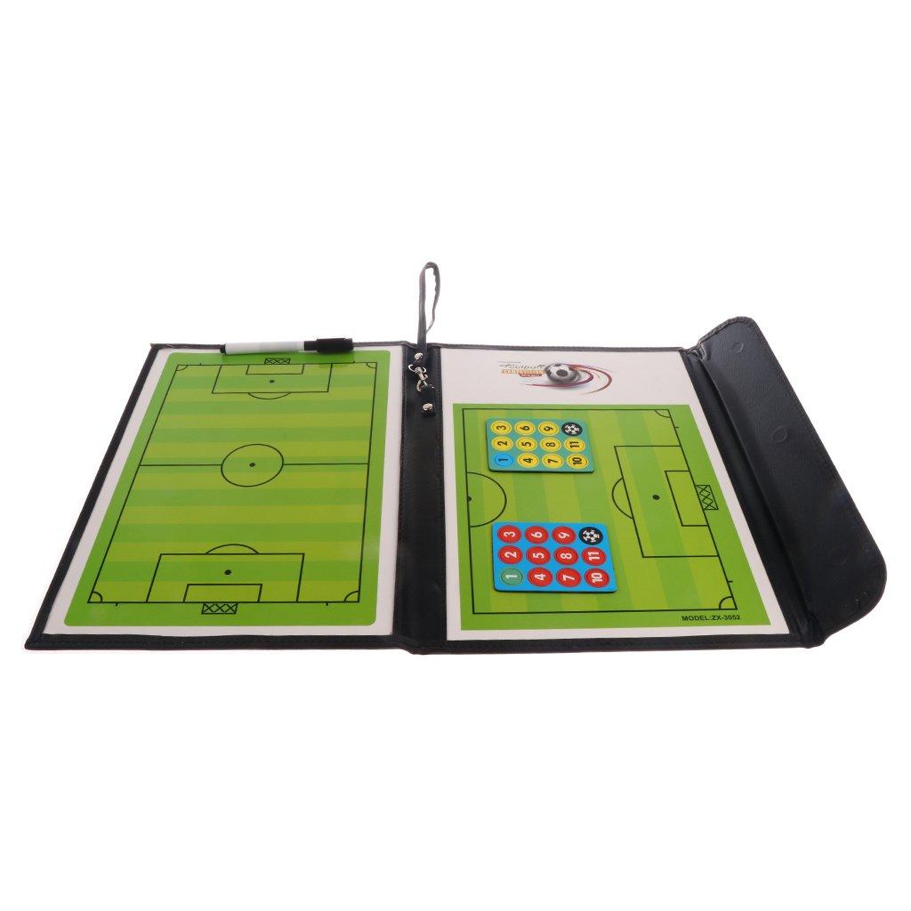 Gazechimp Support De Dossier De Coaching De Football Magn/étique Pliable Marqueur avec Gomme Accessoire Entra/îneur Coach de Foot