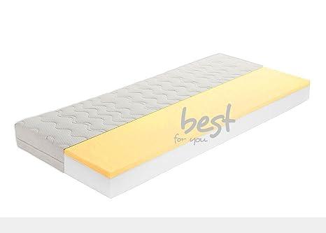 BestforKids - Colchón viscoelástico de espuma fría (con cremallera, jersey de calidad) Talla