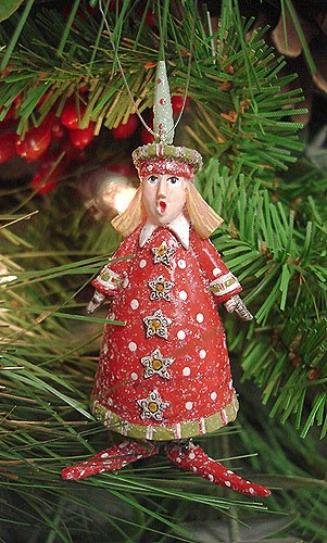 Department 56 Krinkles Tree Hat & Dress Mini Carolers Christmas Ornament #85410