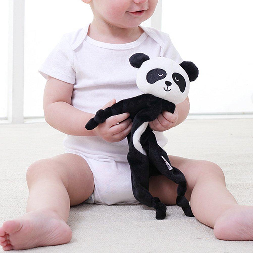 YeahiBaby Doudou beb/é Peluche Mantitas de arrullo Manta de seguridad dise/ño de Panda