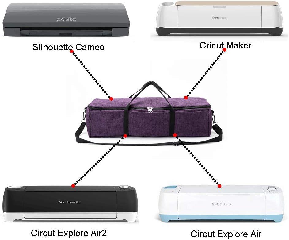 Cricut Maker and Cricut Explore Air Carrying Case Compatible with Cricut Explore Air 2 Y01 Collapsible Cricut Bag Die Cut Machine Storage Tote Multiple Storage Pockets