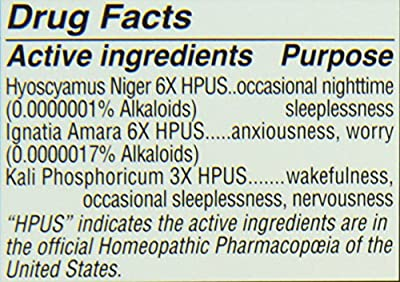 Hyland's Natural Relief of Occasional Sleeplenssness and Nervousness, 100 Count