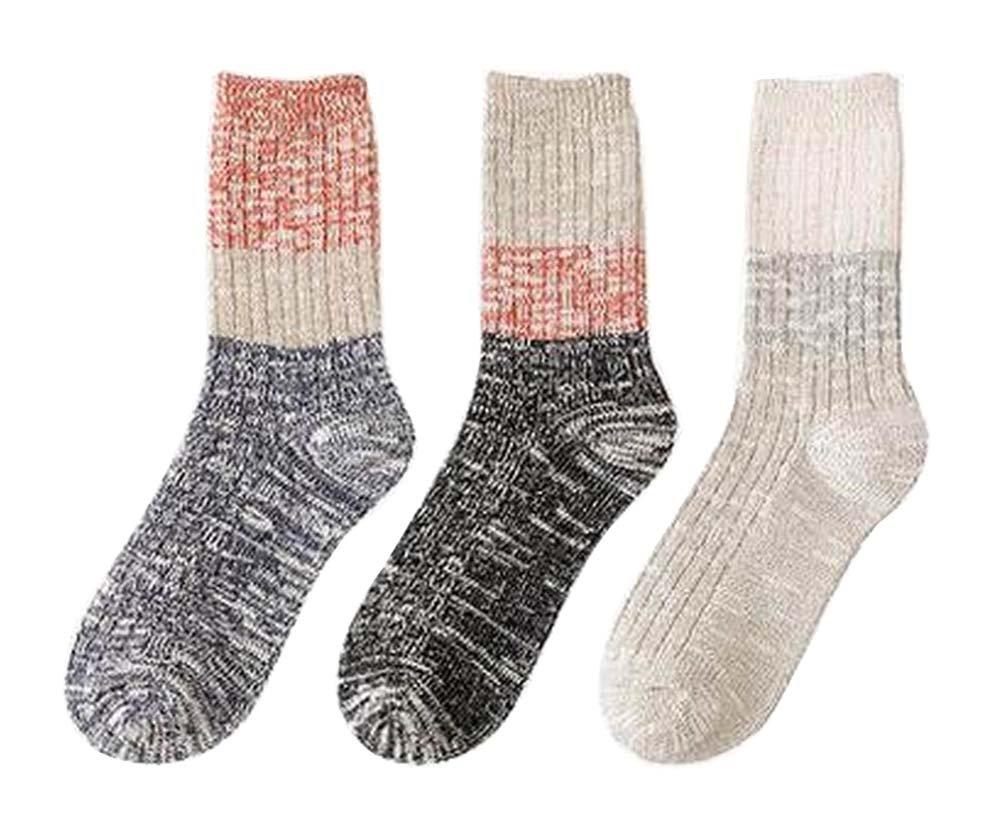 [G] 3 Pairs Women Winter Socks Slouch Socks Schoolgirl Fashion Socks Black Temptation