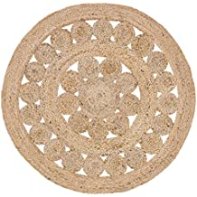 Coastal Farmhouse Flooring - Celeste Tan Round Jute Rug, 3' Diameter