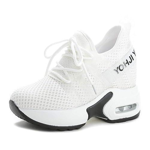elegante consegna gratuita acquista autentico tqgold® Sneakers Zeppa Donna Scarpe da Ginnastica con Zeppa ...