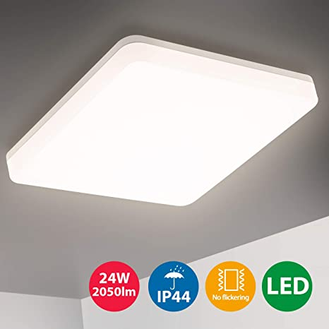 Oeegoo LED 24W lámpara de techo IP44 resistente al agua ...