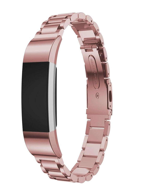 Dreamanステンレススチールブレスレットスマートウォッチバンドストラップfor Fitbit Charge 2 Silver B074V3N1P4