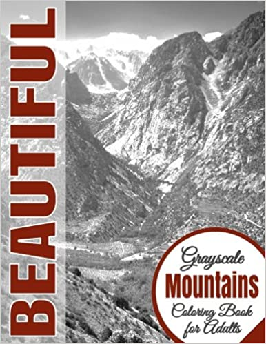 Amazon.com: 5: Beautiful Grayscale Mountains Adult Coloring Book ...