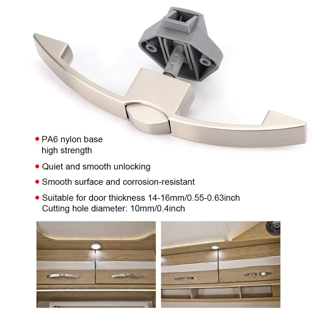 Arc Push Button Pull Catch Lock Furniture RV Cabinet Door Drawer Latch Locks Locks p08-128-sn