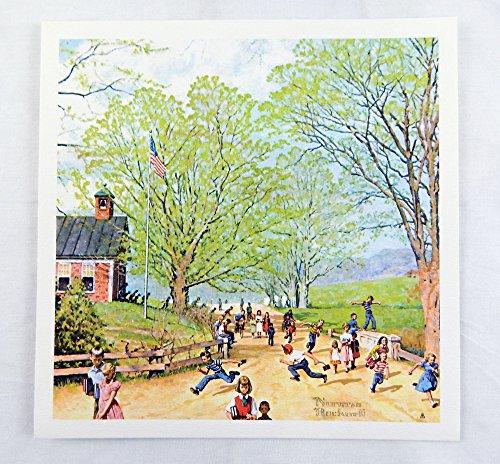 Vintage Norman Rockwell Carefree Days Ahead Childhood Treasures Series Print 1