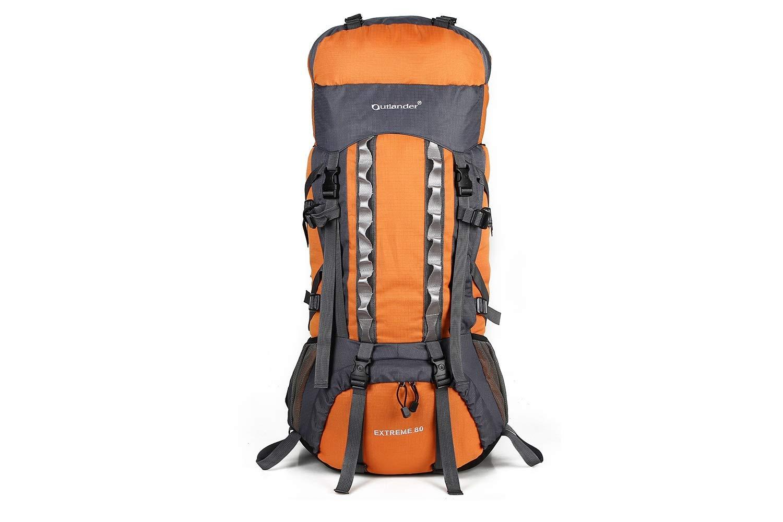 ALUP- ココ80Lインナーフレームハイキングリュックサック、軽量で防水性のあるアウトドアスポーツバックパック、レインカバー、男性と女性のバックパック (色 : オレンジ)  オレンジ B07N3JJY7Z