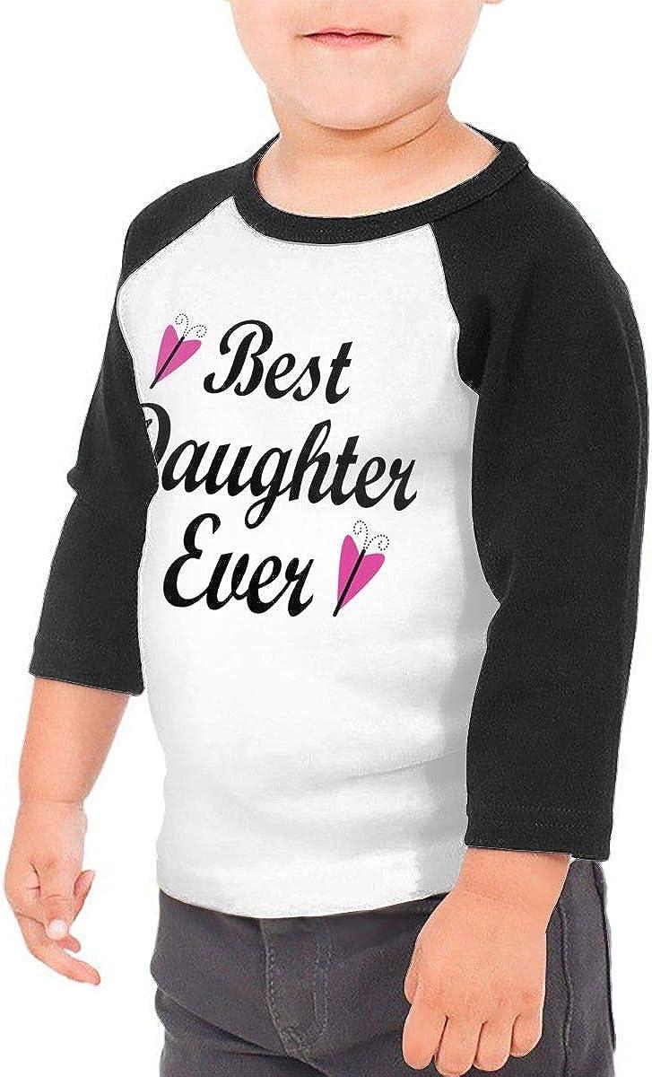 Kocvbng I Best Daughter Ever Raglan 3//4 Sleeve T Shirts for Girls Boy