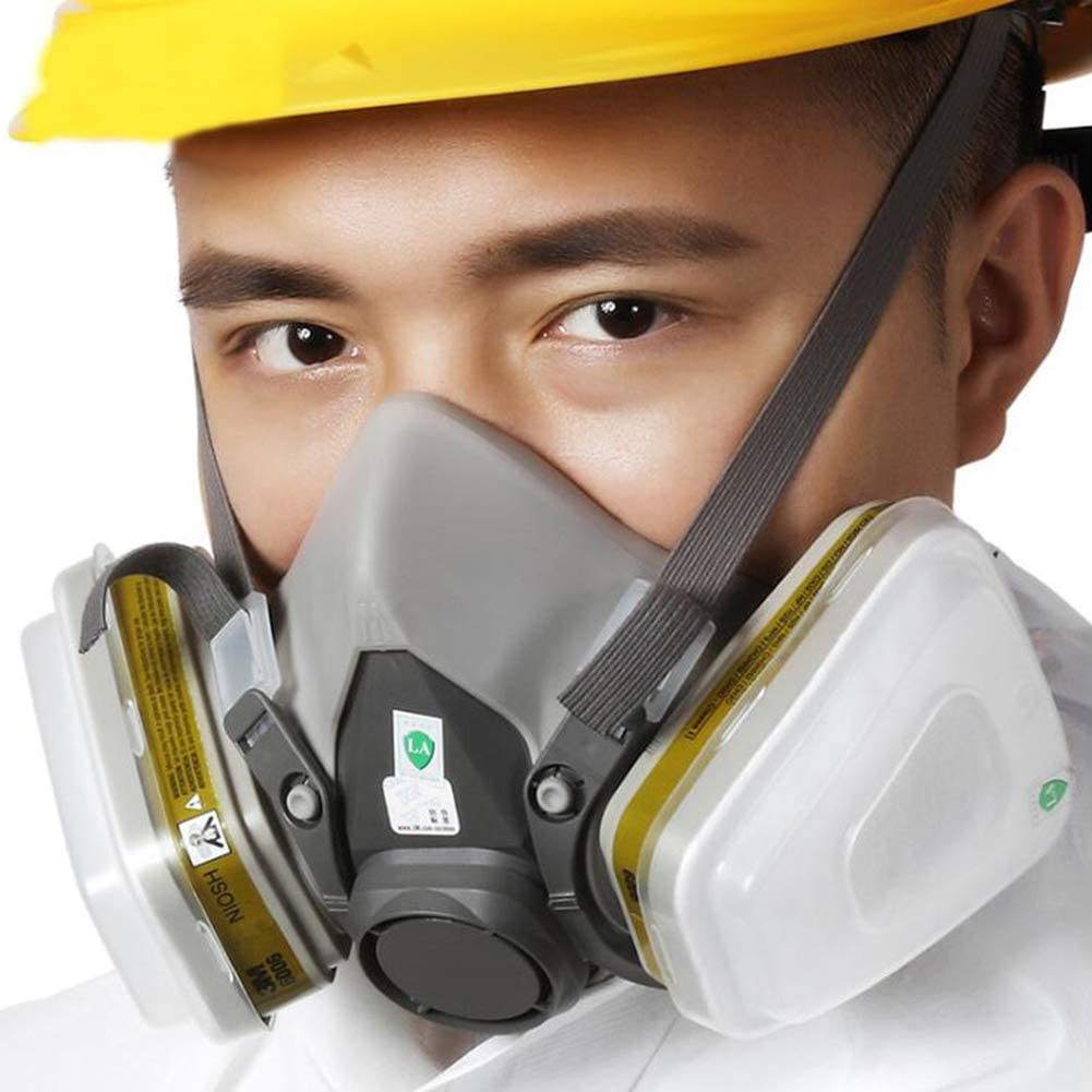 Half Face Respirator Gas Mask Professional Organic Steam Respirator Widely Used In Organic Gas Us Certification Paint Spray Chemical Woodworking Amazon Ca Sports Outdoors