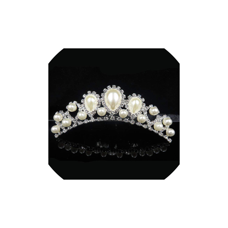 Bridal Tiaras And Crowns Girls Bridesmaid Crown Tiara Comb Wedding Hair Accessories Princess Crown Hair Ornaments,005