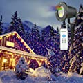 Dynamic Laser Lights, HOSYO Waterproof Star Laser Show RGB Outdoor Laser Christmas Lights Landscape Projection Spotlights for Christams Decoration Outdoor and Indoor Party with Remote Control Timer
