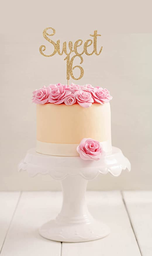 Cool Sweet 16 Birthday Cake Topper 16Th Birthday Cake Topper Sixteenth Funny Birthday Cards Online Alyptdamsfinfo
