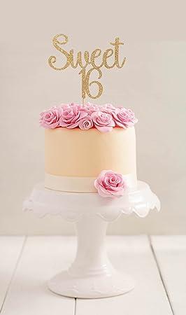 Sweet 16 Birthday Cake Topper 16th Birthday Cake Topper Sixteenth ...
