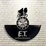 BuTeFang Vinyl Wall Clock Opposite Sex vs blood warrior round hollow vinyl record creative clock vinyl material Art Deco clock