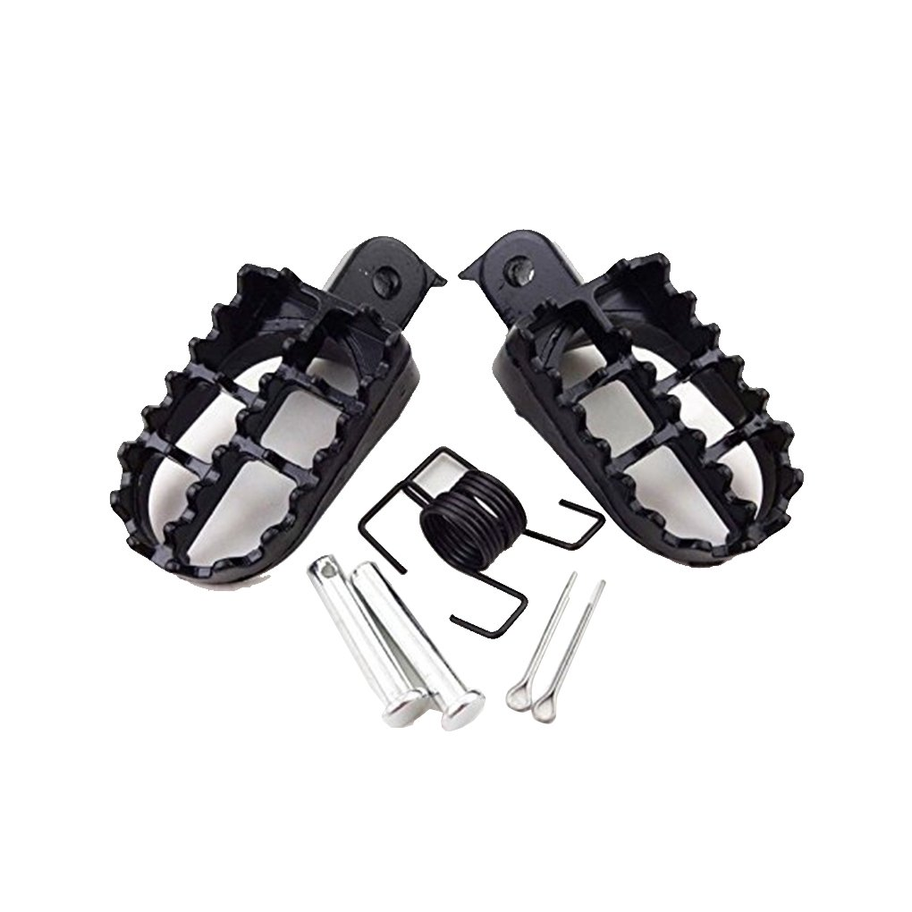 Pigupup 1 Pair Motorcycle Foot Pegs Footrests Foot Support for Yamaha PW 50 80 PW50 PW80 50 Dirt Bike Foot Pedal