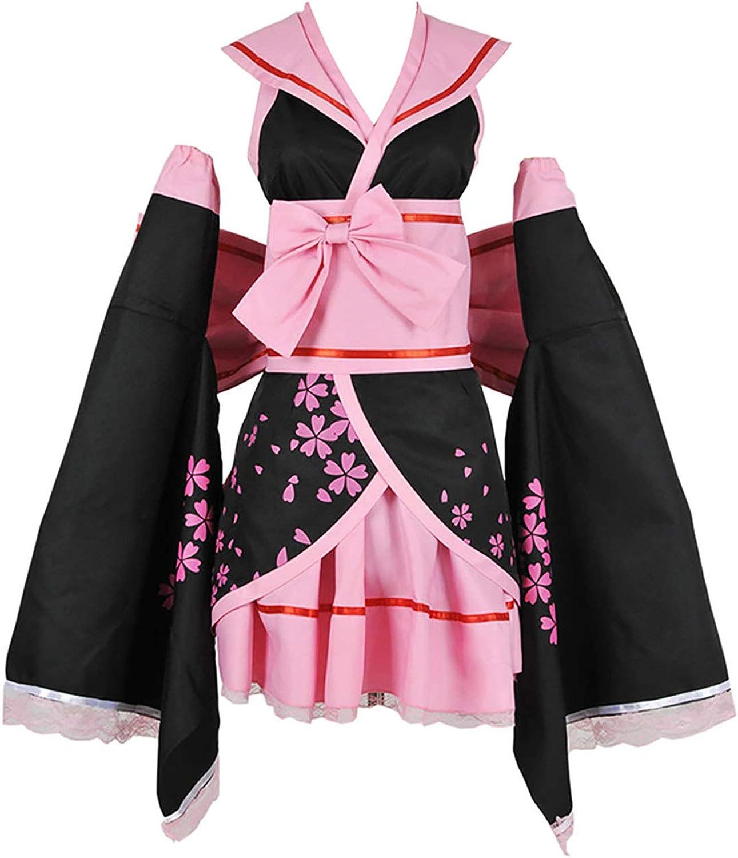 Details about  /Vocaloid Cosplay Costume Sakura Hatsune Miku Pink Outfit 1st Version Set