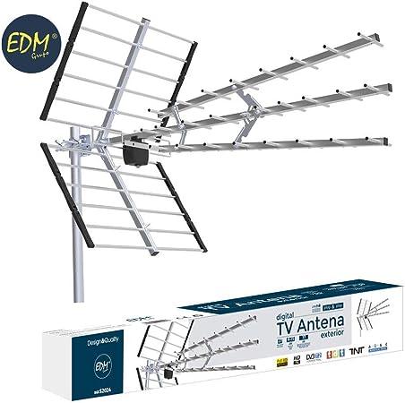 eDM 52024 Antena TV UHF Exterior, 470-694 MHz: Amazon.es ...