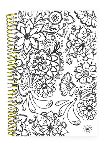 (bloom daily planners UNDATED Daily Calendar Planner & Coloring Book - Monthly/Weekly Agenda Organizer - 6