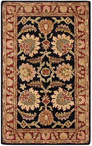 Safavieh Classic Collection CL359A Handmade Traditional Oriental Navy and Red Wool Area Rug 2 x 3