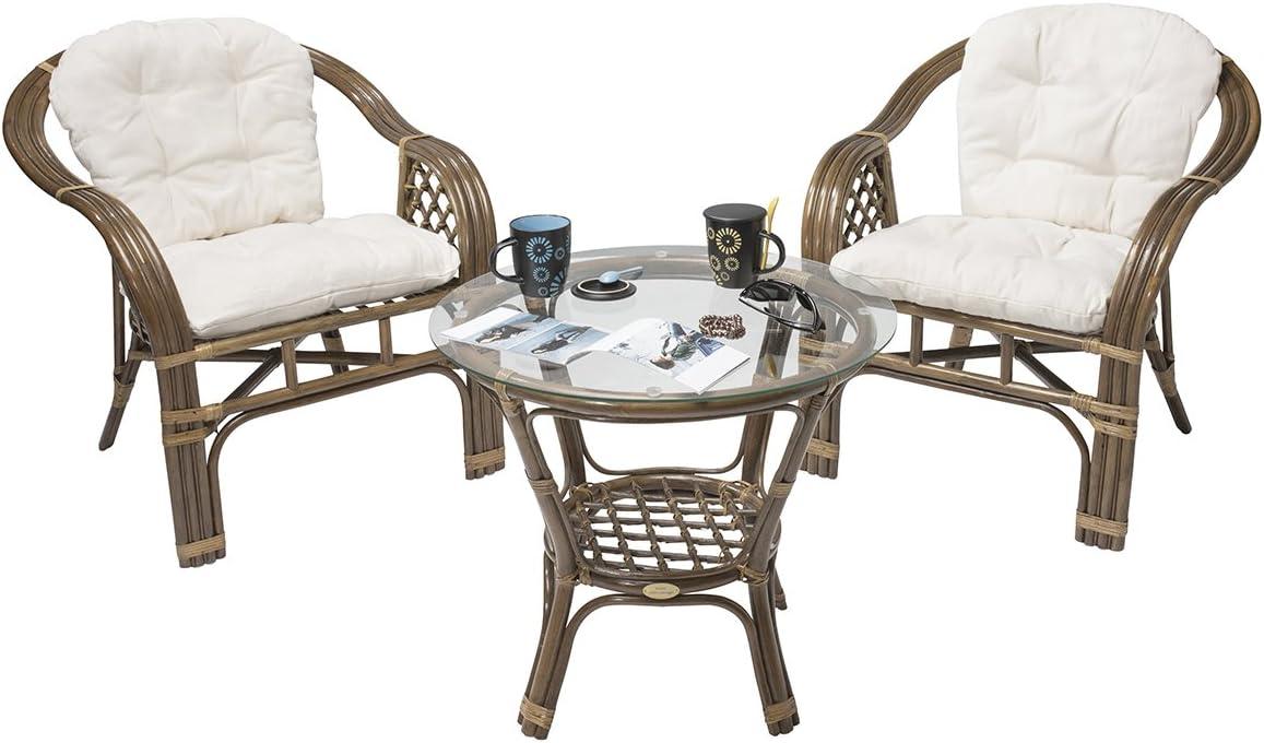 Rebajas : -46% Conjunto terraza de Ratan Balk Moderno y Barato: 2 sillones y 1 Mesa