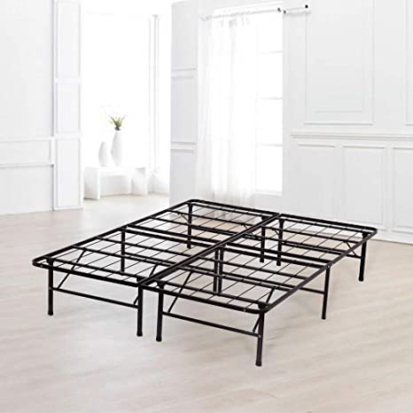 new concept 00fdc 65738 King Bed Frame Metal Platform Bed Frame King Size 14 Inch Mattress  Foundation Box Spring Replacement Heavy Duty Steel Slat Easy Assembly ...