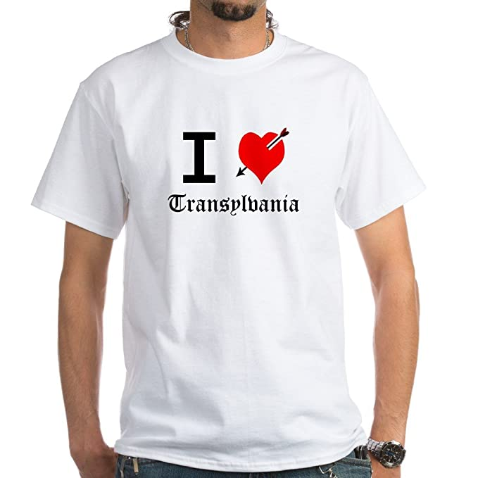 89ad0ef8b6bf Amazon.com: CafePress I Love Transylvania T-Shirt Cotton T-Shirt ...