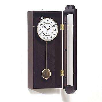 Fengfeng Reloj de Pared con péndulo, Relojes Colgantes Antiguos con Westminster Chime Sala de Estar
