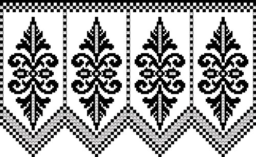 Elegance for a Valance: A View of Beauty in Filet Crochet Edwardian Crochet