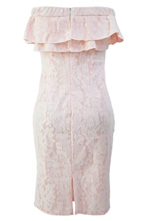 Yeho Art Gallery Painting Pink Lace Nude Off The Shoulder