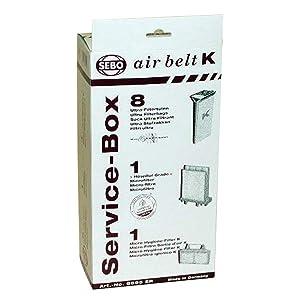 Sebo Airbelt K2 Kombi & K3 Canister Vacuum Cleaner Service Box 8 Pk Genuine Part # 6695ER, 6695AM
