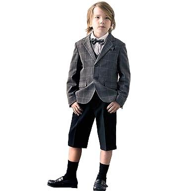 4ab976f127184 Catherine Cottage 入学 卒業 七五三 格子ジャケット フォーマル スーツセット 子供 男の子 MA517 110cm グレー