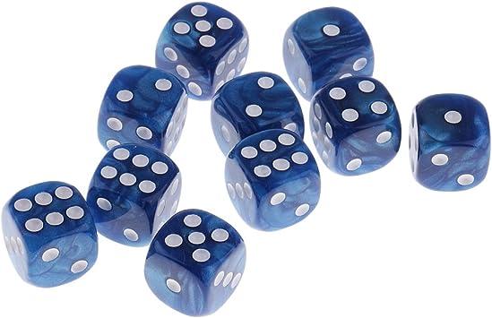 Gazechimp 10 Piezas Plástico Dados Digitales 6 Lados Para Accesorio Juego De Fiesta Juego de Dado Juegos de Mesa - Azul: Amazon.es: Juguetes y juegos