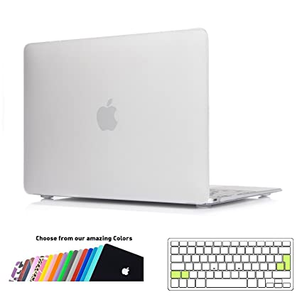 Funda MacBook 12 pulgada,iNeseon Ultra Delgado Carcasa Dura Shell Case con Cubierta del Teclado Transparente EU Layout para Apple MacBook 12 Retina ...