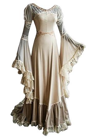 f8072b0a57c63 Amazon.com: Pattistore Women Medieval Princess Dress Lace Retro ...