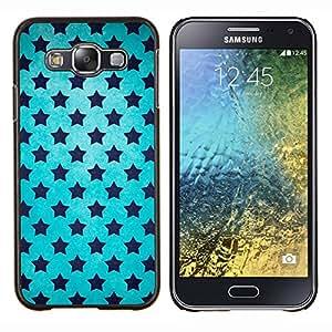 """Be-Star Único Patrón Plástico Duro Fundas Cover Cubre Hard Case Cover Para Samsung Galaxy E5 / SM-E500 ( Estrellas Universo Wallpaper Azul Cielo Negro"""" )"""