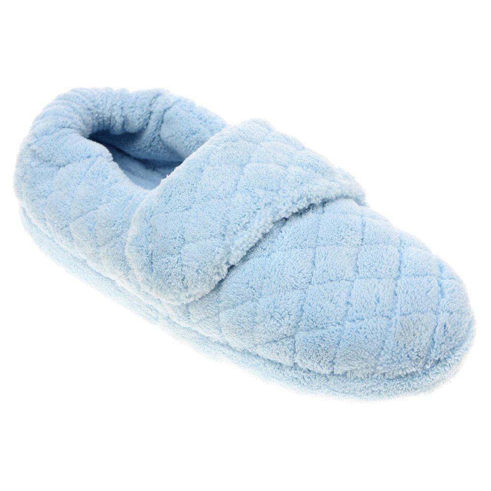 Acorn Womens Spa Wrap Slipper Powder Blue Size M