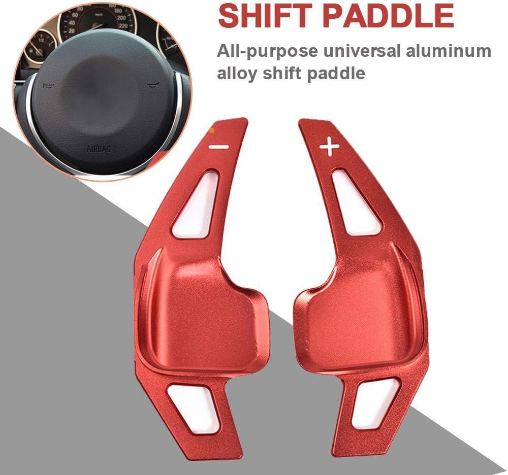 Onlineworld2013 Schaltwippen dkg Shift Paddle f/ür 2er 3er 4er 5er F F20 F30 F32 Silber Eloxiert